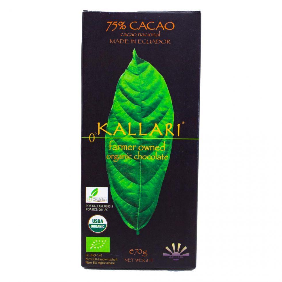 Organic-chocolate-75-Cacao-(Kallari)