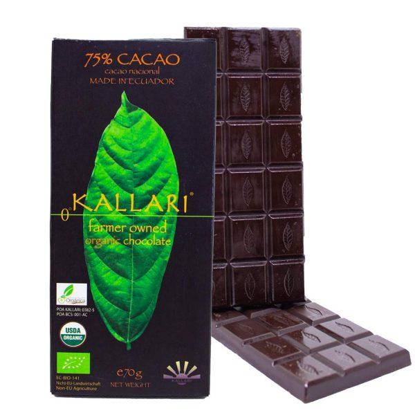 Organic-Schokolade-75-Cacao-(Kallari)